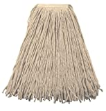 Wilen A419124, Go Go Blend 4-Ply Cut-End Mop, 24-Ounce, 1.25'' Tape Band, Natural (Case of 12)