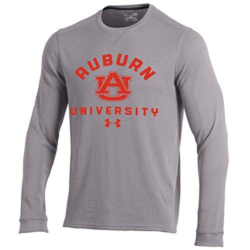 Waffle Knit Tee - Under Armour NCAA Auburn Tigers Men's Waffle Knit Long Sleeve Tee, Large, True Grey Heather
