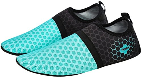 Slip Yoga Socks On Mesh Shoes Summer Quick Weight Drying Swim Beach Womens Green Aqua Outdoor Light Water nO0TfZxY