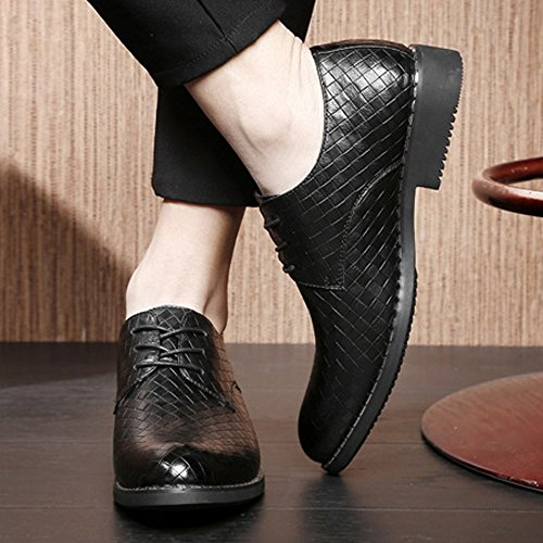in per Low Oxford Gli Uomini Scarpe Texture Scarpe Top Oxford Lace ZX Pelle Traspirante in Square Business Nero Pelle PU Up Foderato Eq6UCW5xw