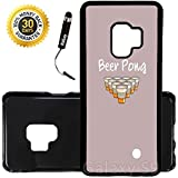 Custom Galaxy S9 Case (Beer Pong) Edge-to-Edge Plastic Black Cover Ultra Slim | Lightweight | Includes Stylus Pen by Innosub