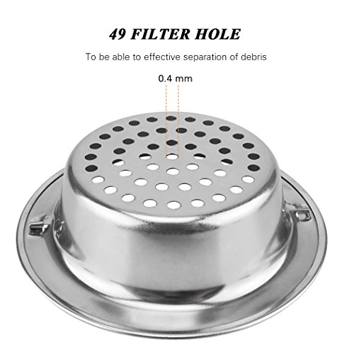 Platinum Kitchen Platinum Stainless Steel Sink Drain Strainer with ...