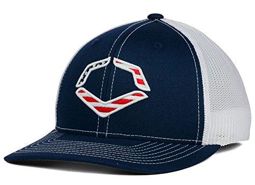 Wilson Sporting Goods Evoshield Usa Logo Flexfit Trucker Hat, Navy, Large/X-Large(7 3/8 - 7 5/8)