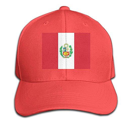 HXXUAN Baseball Hats Peru Flag Snapback Sandwich Cap Adjustable Peaked Trucker Cap