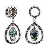 Bigbabybig Women Dangle Ear Plugs 1/2'' Tunnels Gauges Body Piercing Jewelry Stainless Steel Screw