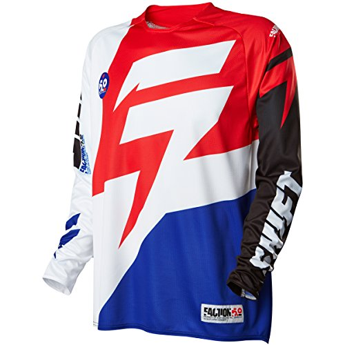 (Shift Racing Faction Men's Off-Road Motorcycle Jerseys - White/Red /)