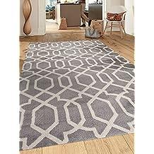 Rugshop Contemporary Trellis Design Soft Indoor Area Rug, 2' x 3', Gray
