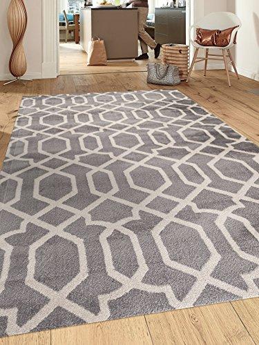 Rugshop Contemporary Trellis Design Soft Indoor Area Rug, 2'
