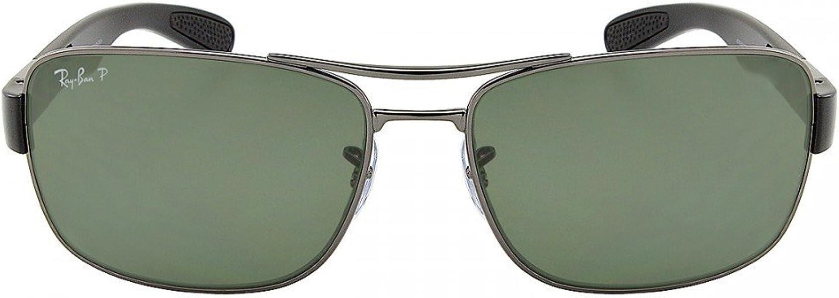 0b5a0e88d5c Ray Ban RB3522 004 9A 64mm Gunmetal Polarized Green Sunglasses ...