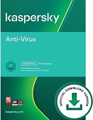 Kaspersky Anti-Virus 2021 | 1 Device | 1 Year | PC | Online Code