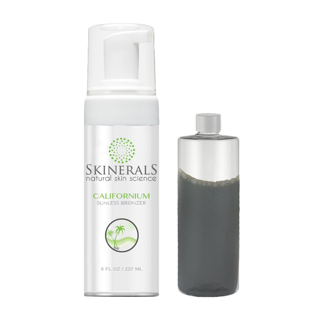 Skinerals Self Tanner Sunless Bronzer Californium Natural and Organic Ingredients for Safe Alternative to Sun Tanning (8 Ounce)