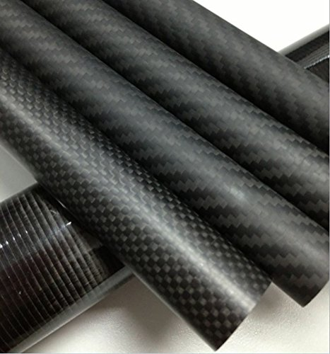 Abester 1 Piece ID 44mm x OD 50mm x 1000mm 3K Carbon Fiber Tube Matt Surface for Landing Gear/Tail Shaft/Wing Tube
