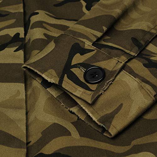 Femmes Golddigga De Air Veste Plein Camouflage Militaire Manteau Vert Vêtements TxBfqx7g