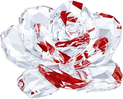 SWAROVSKI Crystal Authentic Rose Figurine – Sparkling Flower Ornament – Glass Decoration for Home and Office