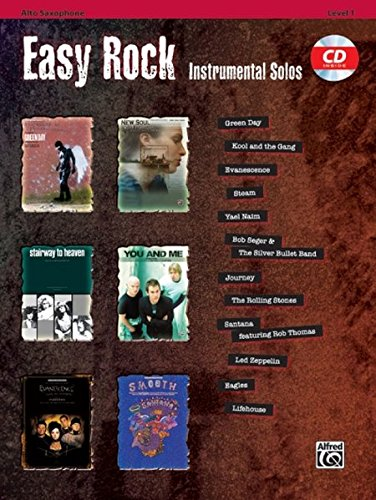 Easy Rock Instrumental Solos, Level 1: Alto Sax, Book & CD (Easy Instrumental Solos Series) (Tenor Alfred Sheet Music)