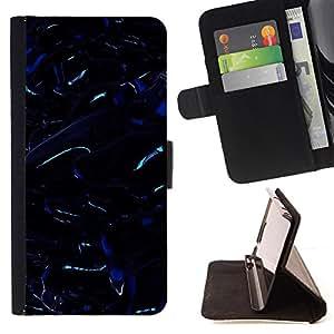 - Black Dark Oil Slick Reflective - Estilo PU billetera de cuero del soporte del tir???¡¯???3n [solapa de cierre] Cubierta- For Apple Iphone 6 PLUS 5.5 ( Devil Case )