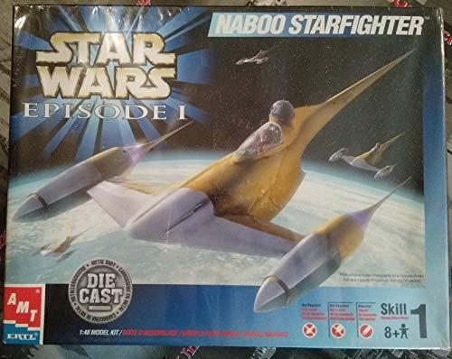 (ERTL Star Wars Episode I Naboo Starfighter Die Cast Model Kit 1:48)