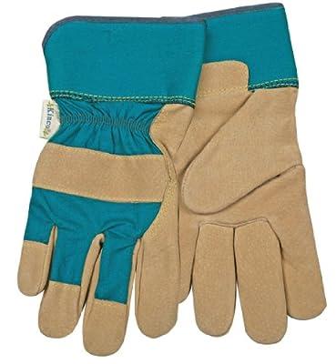 Kinco 1412W Women's Split Pigskin Leather Palm Gardening Glove