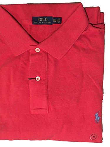Polo Ralph Lauren Mens Big & Tall Signature Waffle Knit Polo Shirt (2X Big, Sentry Red Heather) ()