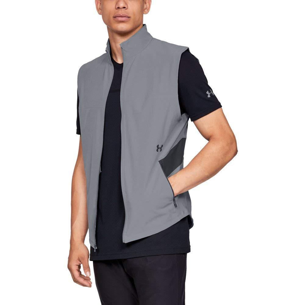 Under Armour Men's Threadborne Vanish Vest, Steel (035)/Black, Small
