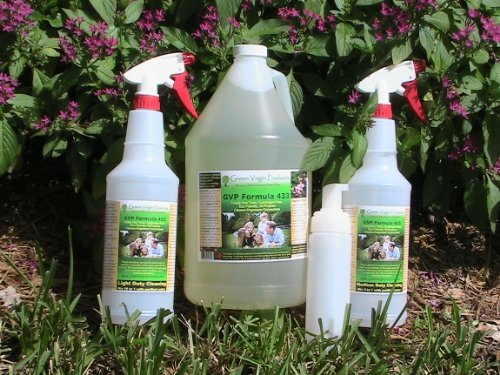 Totally Non-Toxic All Purpose Cleaner Degreaser Concentrate, 1 Gallon, with Mixing Spray Bottles & Foaming Pump Bottle by Green Virgin Products