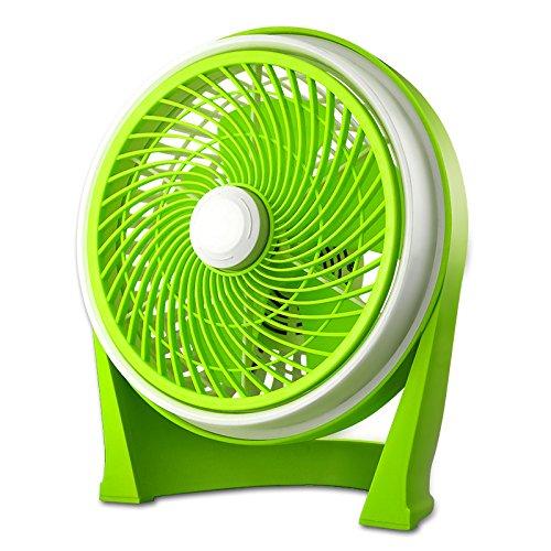 LDFN Desktop Fan For Home Office Outdoor Desktop USB Mute Portable Energy-saving Scroll Fan,Green-2428cm by LDFN