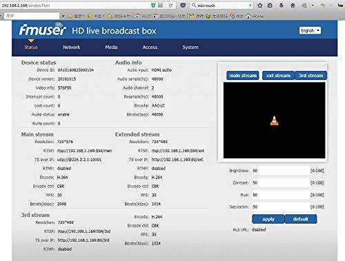 FMUSER H 264 / H 265 HDMI HEVC IPTV Encoder, HD Video