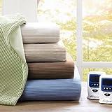 Beautyrest Electric Micro Fleece Heated Blanket, King, Sage