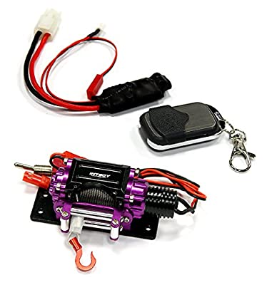 Integy RC Hobby C24888PURPLE Billet Machined T3 Realistic Mega Winch w/Wireless Module for 1/10 Scale Crawler