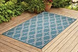 Benissimo Contemporary Indoor/Outdoor Sisal Area Rug Amulet Collection Woven, Durable, and Easy Cleaning | Machine Rug for Living Room, Kitchen, Garage, Kids Room etc. | 8x10 | Turquoise