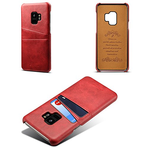 Women With Samsung Credit S9 Wallet for Plus Back Boys Galaxy 6 Girls Leather S9 Men Red Card Cover Holder Slim Phone Colors Case Slots Case 77rOHq5wx