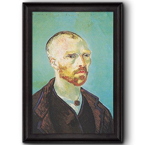 Self Portrait Dedicated to Paul Gauguin by Vincent Van Gogh Oil Painting Impressionist Artist Framed Art