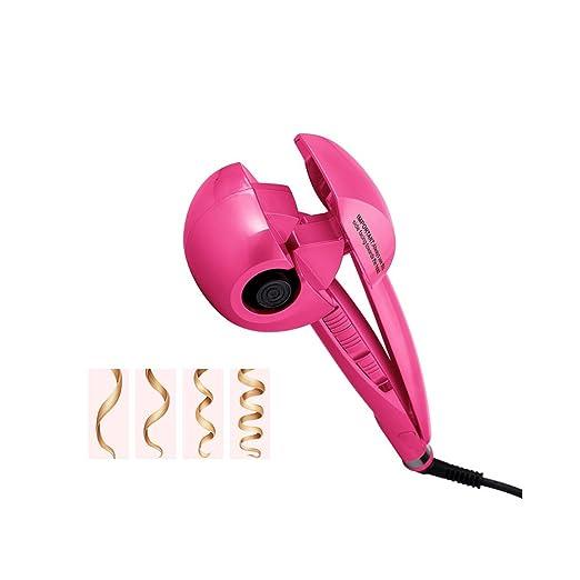 Huluwa Curling Iron Ceramic Hair Curler Fashion Automatic Roller Wave Curl Machine, Pink