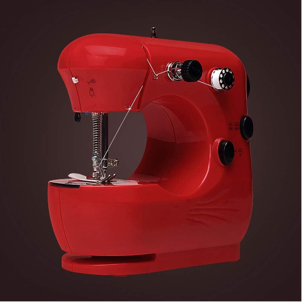WDXLT Mini Principiante Máquina De Coser,automático Ajustables 2 Velocidad Máquina De Coser,Bordado Costura Máquina Overlock,Pedal Fácil Operación C 20x12x21cm (8x5x8inch)