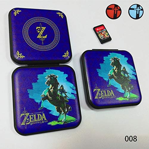 NXPS NintendoSwitchゲームアクセサリ用2つのアナログキャップ付きNintendスイッチ保護ケースハードシェルのためのゲームカードストレージボックス (色 : 008)
