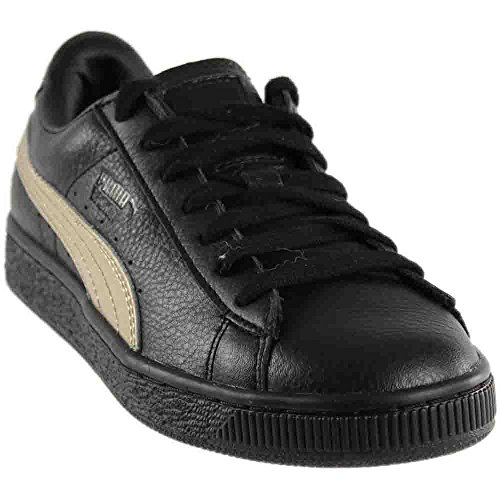 Puma BASKET CLASSIC METALLIC SN Black/Silver/Gold Men's Shoes ()