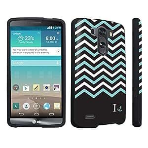 DuroCase ? LG G3 Hard Case Black - (Black Mint White Chevron I)