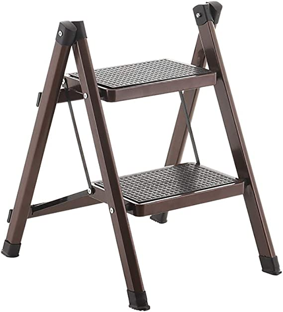 YXX-Taburete escalera Escalera de Tijeras de Cocina con 2 peldaños y escalones para Adultos, Escalera Plegable portátil con peldaños Antideslizantes, Capacidad de 220 LB (Color : #1): Amazon.es: Electrónica