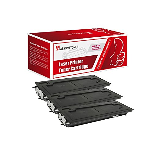 Awesometoner Compatible 3 Pack TK-437 1T02KH0US0 Toner Cartridge For Kyocera-Mita TASKalfa 180 181 220 221 Yield 15000 Pages