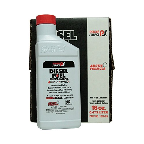(Power Service Diesel Fuel Supplement + Cetane Boost - 9/16oz. Bottles)
