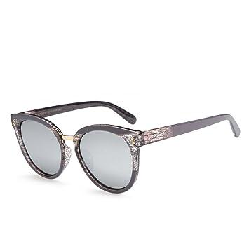 Z&YQ Gafas De Sol Retro Personalidad De Grano De Madera ...