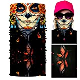 Motorcycle Bike Half Face Skull Day of Dead Masks Balaclava Snowboard Scarf USA