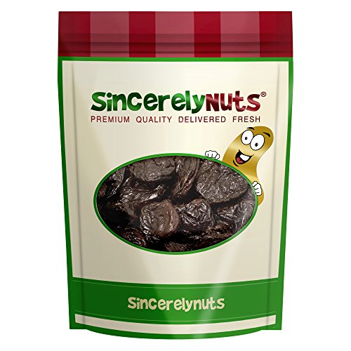 Sincerely Nuts Dried Pitted Prunes - Five Lb. Bag – Rich in Antioxidants and Dietary Fiber – Appetizingly Sweet - Insane Freshness - Kosher Certified