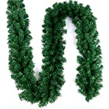 Christmas Artificial Pine Garland for Xmas Decorations Wall Door Stairs Ornaments 9ft / 2.7M (1 PCS)