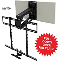 MantelMount MM700 Pro Series Pull Down TV Mount Above Fireplace For 45-90 TVs Over Mantel