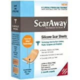 Scaraway Silicone Scar Treatment Sheets, 1.5 X 3 Inch 8 Ea