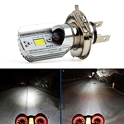 Ecosin H4 Led Motorcycle Headlight Bulbs Cob Led 12-36 v 1000lm h I Lamp Scooter H4 Motorcycle Light Bulb