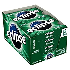 Amazon.com : Eclipse Spearmint Sugarfree Gum, 18 Piece