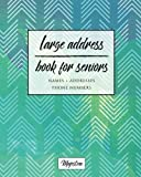 Large Address Book For Seniors: Navy & Mint Chevron Large Print, Easy Reference For Contacts, Addresses, Phone Numbers & Emails. (Large Print Address Books for Aging)