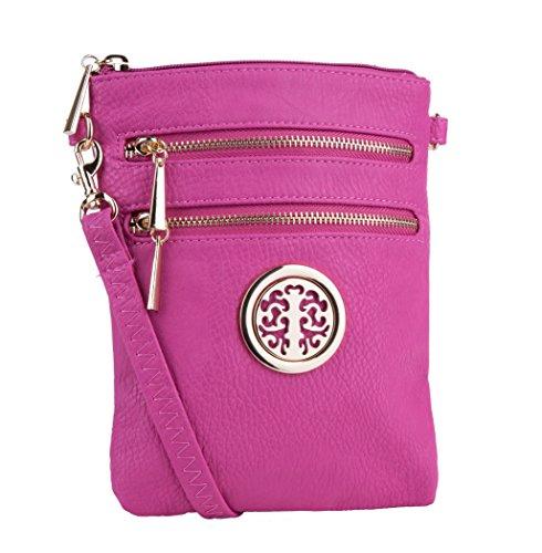 Mia K. Farrow Women's Trios Crossbody Handbag, - Bag Epi Shoulder Leather